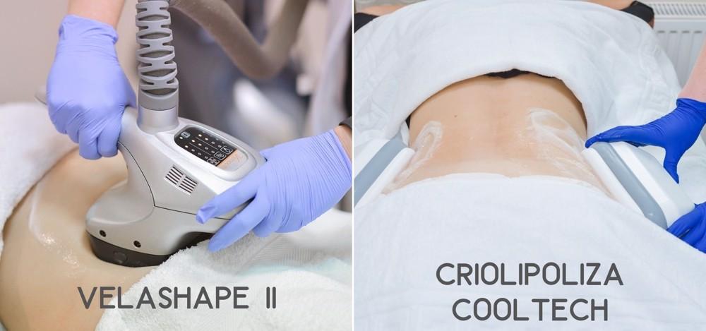 diferente velashape II si criolipoliza